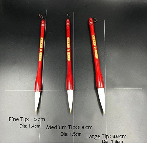 punta Fine confezione da 3 Set di pennelli per calligrafia cinese-Pennello Sumi-e
