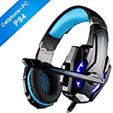 Gaming Headset with Mic for PS4 PC Latest new version Xbox One, EasySMX 2019 New 3.5 mm Professional Game Headsets for Laptop Tablet Mac Smartphone, Microsoft Adapter Needed if for Old Version Xbox One