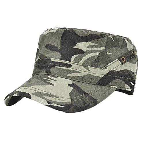 Leisial Gorra de Caza Casquillo del Algodón Estilo Vintage Ejercito del Visera de Sol Sombrero Beisbol Deportes al Aire Libre para Hombre Mujer Camouflage