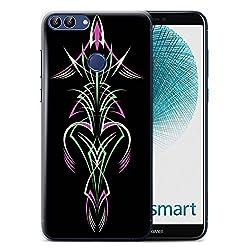 Stuff4 Hülle/Case für Huawei P Smart/Grün/Lila Muster/Stammes-Nadelstreifen Kollektion