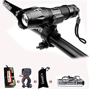 51KuvV6Ra7L. SS300 Constefire Torcia XML T6 Torcia LED,Luce della Bicicletta,(Max 1200lm; Impermeabile IPX5; 5 modalità,) 18650 Batteria…