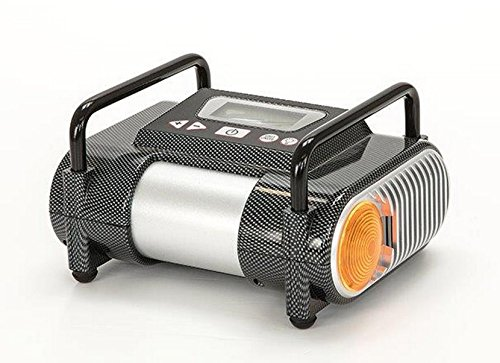 Diewe 12V Digitaler kompakter tragbarer Mini Kompressor Reifenfüller Kleinkompressor programmierbar in Carbon Optik