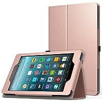 MoKo Nuevo Amazon Fire 7 2017 Funda ( 7 pulgadas, 7ª generación) - Ultra Slim Función de Soporte Plegable Smart Cover Stand Case para All-New Fire 7 Tableta, Oro Rosa (Auto Sueño / Estela)