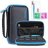 KINGTOP Nintendo 2DS / 3DS Hard Case Tasche Anti-Shock Schutzhülle für NEW Nintendo 2DS / 3DS XL / LL Konsole und Zubehör, schwarz und blau