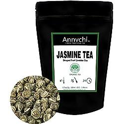 Jasmintee Dragon Pearls (75 Tassen) - Jasmin Tee Lose - Tee Grün Jasmin Kugel - Chinesischer Weißer Tee Jasmin Gruener Tee Lose - 150g