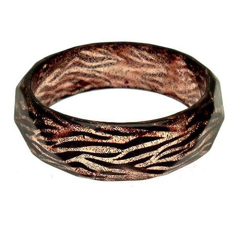 Acosta &Glitter Harz Resin Tiger Animal Print Fashion Jewellery Armband/Armreif