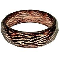 Acosta-Resina & Glitter in resina, stampa tigre di Animal Fashion Jewellery-Bangle/Bracelet
