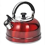 Veroda Camping Narrow Boat Whistling Kettle Startseite Herd Gas Electric Induction 2.5L Farbe Rot