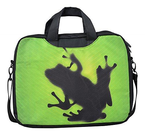 MySleeveDesign Laptoptasche Notebooktasche mit Tragegurt für 13,3 Zoll / 14 Zoll / 15,6 Zoll / 17,3 Zoll - VERSCH. DESIGNS - Frog [17]