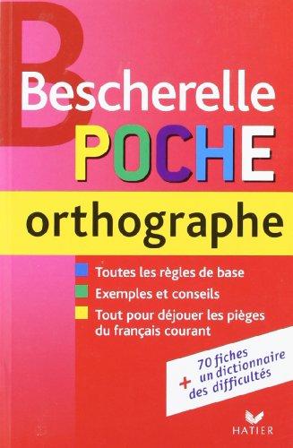 Bescherelle poche orthographe par Jens Schumacher