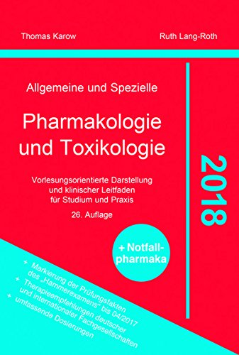 Pharmakologie Thomas Karow 2018