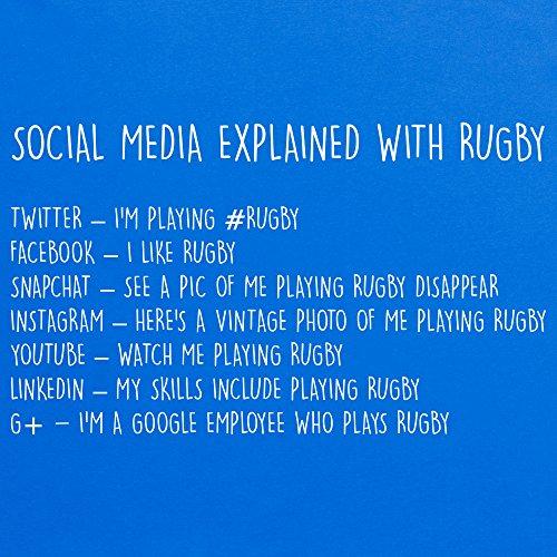 Social Media Explained - Rugby T-Shirt, Herren Royalblau