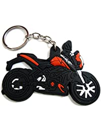 Soft Rubber Bike Keychain Keyring Single Sided Best Collectible Gift Item Duke