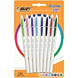 BIC Cristal Up bolígrafos punta media (1,2 mm) - colores Surtidos, Blíster de 8 unidades