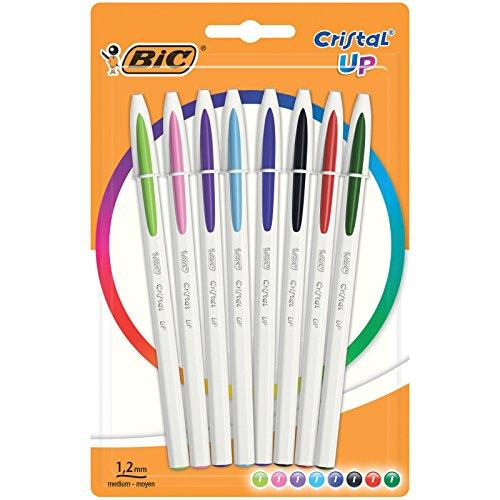 BIC Cristal UP - Pack de 8 bolígrafos