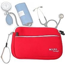 DURAGADGET Estuche De Neopreno Rojo Para Guardar Sus Accesorios Médicos ( Estetoscopio / Tensiómetro ) | Resistente Al Agua