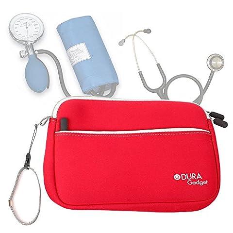 Trousse d'infirmière en rouge pour transporter vos accessoires médicaux (tensiomètre,
