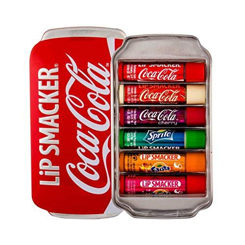 Lip Smacker, Coca-Cola, Set di lucidalabbra in confezione regalo (Coca-Cola Classic, Coca-Cola Vanilla, Sprite, Fanta Orange, Fanta Strawberry, Fanta Pineapple), 6 pz.