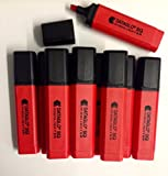 PACK OF 10 RED DATAGLO SQ CHISEL TIP HIGHLIGHTERS