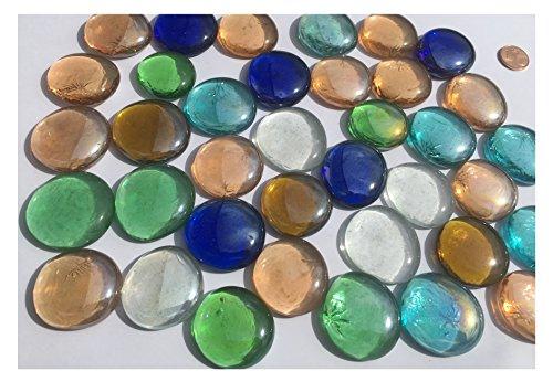 mezcla multicolor cristal piedras Nuggets 3,5cm 600g–Bolas plano Cristal bolitas de cristal...