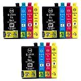 Teng® 27XL Remplacer pour Epson 27 XL Cartouches d'encre, pour Epson Workforce WF 3620 WF 3640 WF 7610 WF 7620 WF 7110 WF 7715 WF 7720 WF 7210 Imprimante (3 Noir,3 Cyan,3 Magenta,3 Jaune)