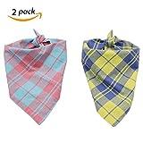 Petilleur 2Pcs Hundehalstuch Halstücher für Hunde und Katzen Dreieck Halstuch für Klein, Mittlere und Groß Hunde (S-2)