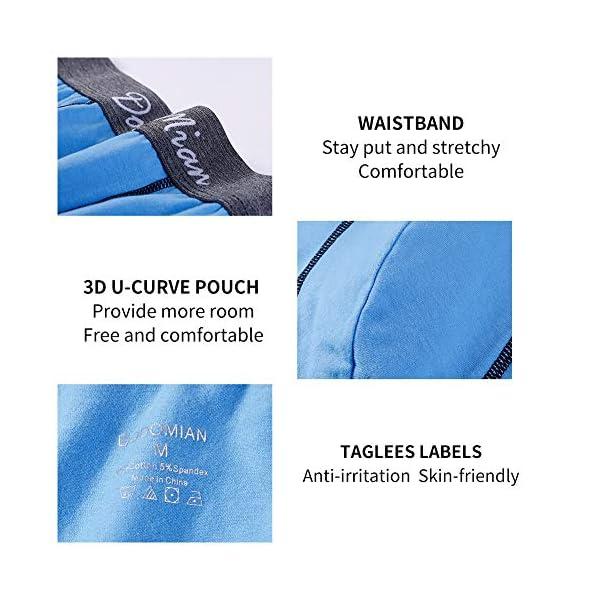 51Kv btZDJL. SS600  - DODOMIAN Bóxers para Hombre Pack de 5 Ropa Interior de algodón elástico Calzoncillos Underwear