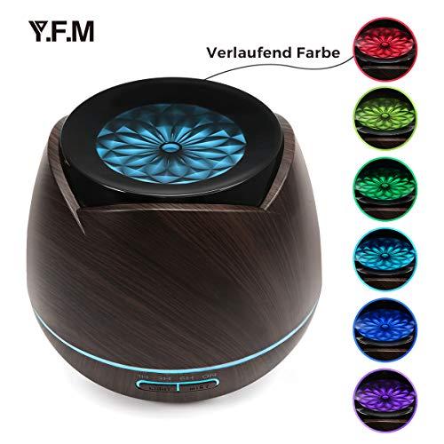 Aroma Öl Diffuser, Y.F.M Holzmaserung Aromatherapie-Maschine Vernebler Duftlampe 400ml für Wohnzimmer, Schlafzimmer, Büro, Yoga, Spa und usw.