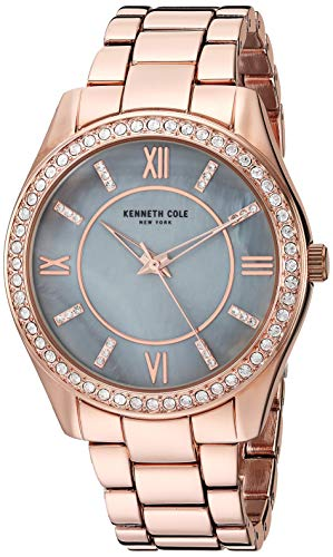 Kenneth Cole Women's Gold Tone Steel Bracelet & Case Quartz Watch KC50739001