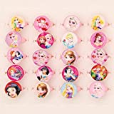 #8: DailyShop Cute Cartoon Princess Smiley shape Finger Rings For Girls Gifting (Square Box (Set of 50 Rings))
