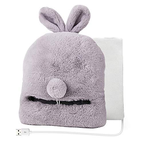 Wenje usb cuscinetti elettrici riscaldati piedi caldi pantofole invernali scaldapiedi divano sedia scaldino riscaldamento pad coniglio grigio