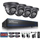 [1980*1080P HD] SANNCE® Kit de 4 Cámaras de Vigilancia Seguridad (Onvif H.264 CCTV DVR P2P 4CH AHD 1080P y 4 Camaras 2MP IP66 Impermeable, 3.6MM, IR-Cut, Visión Nocturna Hasta 20M, Exterior y Interior, HDMI, 24 LEDs Seguridad Kit) - NO Disco Duro