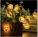 Emoji Exclusive Led Fairy Lights, Battery Powered, Emoticon String Lights with Timer Control – Perfect for Birthday Party, Bedroom & Home Decor and Gifts for Kids, 20 LED (7.2ft/2.2m Warm White)