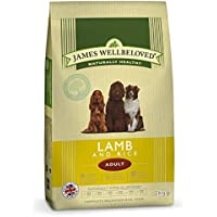 James Wellbeloved Dog Food Adult Lamb and Rice Kibble 15kg