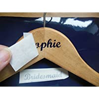 DIY Hanger Stickers/Decals for Wedding Bridal Party - 3 part Set - Choice of Colours