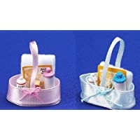 12th Scale Dolls House Nursery Accessory - Baby Needs Available In Pink Or Blue S107156