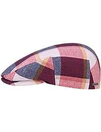 Schirmm/ütze aus Leinen und Baumwolle Made in Italy Lierys Stripes Leinen Baumwoll Flatcap Herren Fr/ühjahr//Sommer M/ütze in Beige-Blau und Beige-Rot