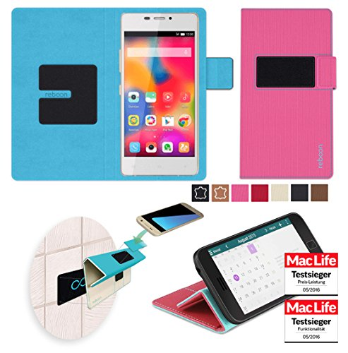 reboon Hülle für Gionee S5.1 Pro Tasche Cover Case Bumper | Pink | Testsieger