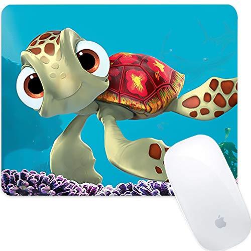 Weneth Rechteck Mauspad Cooles Gaming Mousepad rutschfest Mausunterlage Gummi Ränder Mauspad für Laptop & Reise-Schildkröte Einhorn Ananas