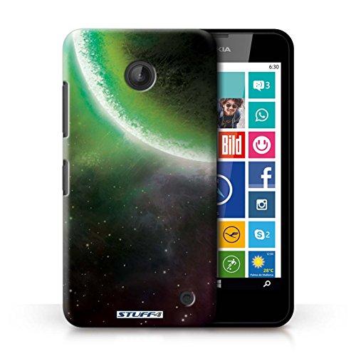 Kobalt® Imprimé Etui / Coque pour Nokia Lumia 630 / Nébuleuse Pourpre conception / Série Cosmos Éclipse Vert