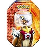 Universal Trends Pokemon PL Tin Deck Box 18 Entei - Juego de cartas, diseño de