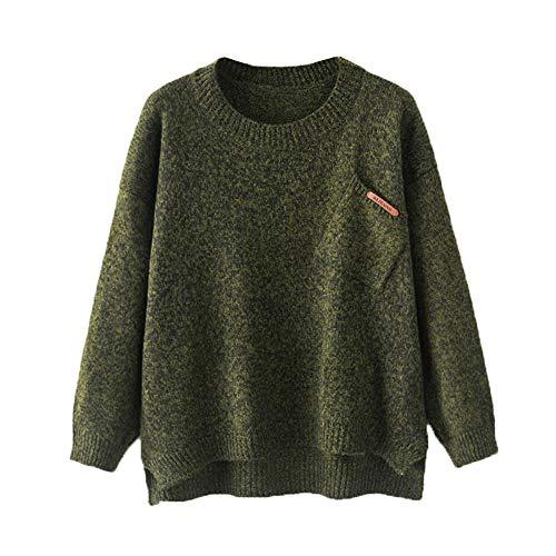 Btruely Strickjacke Damen Herbst Eine Größe Langarmshirt Winter Jacke Oversize Sweater Frauen Pullover Strickpullover