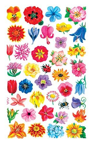 AVERY Zweckform 54304 - Papier Sticker kleine Blüten, Dekosticker, Aufkleber, selbstklebend,  DIY, Scrapbooking, Tagebuch, Fotoalbum, Bullet Journal Zubehör, 114 Sticker