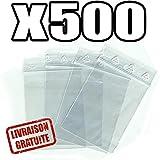 Sachets pour bijoux ou pochette plastique zip - Format 60 x 80 mm / Lot de 500