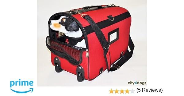 Doogy Sac à Roulette pour Chien Rouge  Amazon.fr  Animalerie 56b46178884