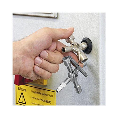 Knipex 00 11 01 TwinKey – für Schaltschränke, Fenster und Absperrsysteme - 13
