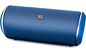 JBL flip Portable Bluetooth Loud Speaker with UK/EU Mains Adapter, Built-In Mic Compatible with Smartphones, Tablets, MP3 Devices - Blue