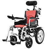 EMOGA Heavy Duty Electric Wheelchair, Foldable And Lightweight Powered Wheelchair, 360° Joystick, Seat Width 44Cm