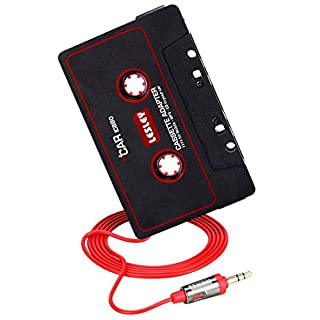Retro Car Cassette Tape Adapter, Aonokoy Inc Travel Audio Music Cassette Converter Cassette Player with 3.5mm Male 3.5 Feet Long Cable for iPod iPad iPhone Sumsung Mobile Phones CD MP3 Players Walkman