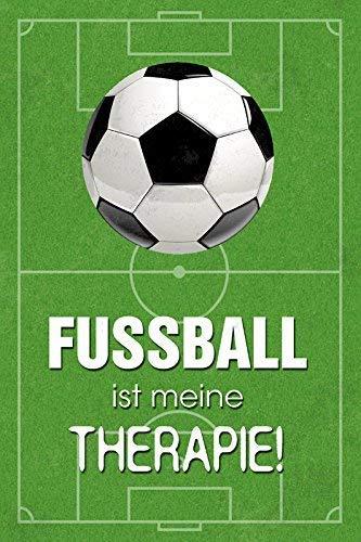 Fussball ist meine Therapie Blechschild Metallschild Schild gewölbt Metal Tin Sign 20 x 30 cm -